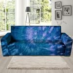 Tie Dye Blue Psychedelic Sofa Cover
