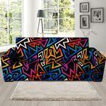 Colorful Geometric Pattern Print Sofa Cover