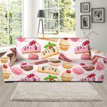 Cake Dessert Pattern Background Sofa Cover