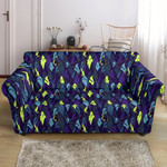 Shark Neon Colorful Pattern Print Sofa Cover