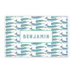 Narwhal And Whale Custom Name Printed Placemat Table Mat