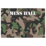 Green And Brown Camo Mess Hall Printed Placemat Table Mat