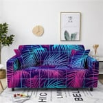 Dazzling Style Floral Leaves Checked Pattern Sofa Cover