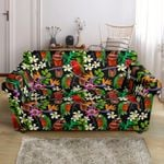 Colorful Parrot Design Pattern Print Sofa Cover