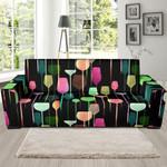 Wine Glass Pattern Sofa Cover