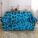 Cheetah Blue And Black Texture Pattern Sofa Cover