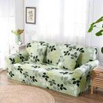 Green Leaves Flower Pattern Sofa Cover