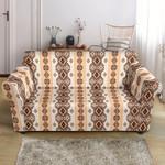 Native Classic Brown Design Pattern Sofa Cover
