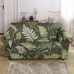 Green Fern Leave Pattern Graceful Design Sofa Cover
