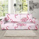 Tropical Flamingo Hawaiian Floral Pattern Sofa Cover