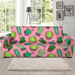 Cactus Pink Pattern Background Sofa Cover