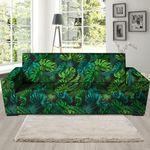Palm Green Leaf Tropical Print Sofa Cover