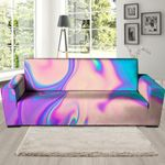 Romantic Abstract Trippy Holographic Pattern Sofa Cover