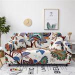 Abstract Unique Design White Theme Sofa Cover
