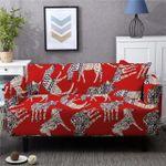 Spandex Luxury Horse Unique Design Red Theme Sofa Cover