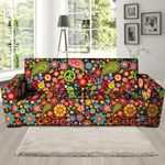 Colorful Hippe Peace Pattern Print Sofa Cover
