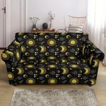 Sun Moon Golden Design Theme Sofa Cover