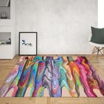 Hippie Swirls Boho Area Rug Home Decor