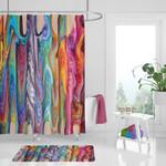 Hippie Swirls Boho 3D Printed Shower Curtain Set Home Decoration