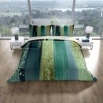 Striped Watercolor Design Duvet Cover Bedding Set