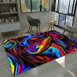 3D Psychedelic Area Rug Home Decor
