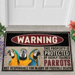Protected By Blue And Gold Macaw Doormat Doormat Home Decor