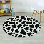Dairy Cow Skin Pattern Round Rug Home Decor