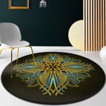Shiny Vintage Bright Artistic Round Rug Home Decor