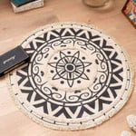 Attractive Floral Pattern Round Rug Home Decor