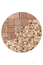 Overlap Persian Hand Knotted Kilim Round Rug Home Decor