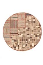 Geometric Persian Hand Knotted Kilim Round Rug Home Decor