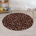 Cheetah Skin Thick Pattern Round Rug Home Decor
