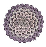 Ted Baker Masquerade Pink Round Rug Home Decor