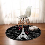 Pris Tower Black Quote Cute Round Rug Home Decor