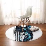 Galaxy Wolf Proud Round Rug Home Decor