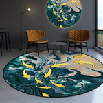 School Of Fishes Pattern Round Rug Home Decor