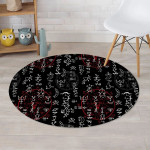 Witch Symbols Abstract Art Round Rug Home Decor
