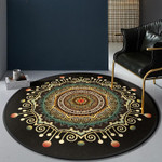 Beautiful Retro Fantastic Artistic Round Rug Home Decor