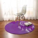 Purple Theme Dreamcatcher Round Rug Home Decor