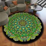 Multicolor Retro Theme Artistic Round Rug Home Decor