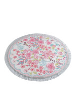 Pink Dolce Colorful Background Round Rug Home Decor