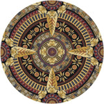Colorful Design Vintage Traditional Pattern Round Rug Home Decor