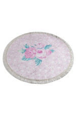 Monet Pink Colorful Background Round Rug Home Decor