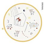 Abstract Art Cute Animal Outer Space White Theme Round Rug Home Decor