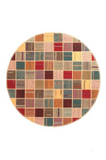 Symmetrycal Persian Hand Knotted Kilim Round Rug Home Decor
