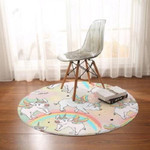 Pig Angel Floor Dreamy Cute Round Rug Home Decor