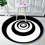 Classic Snail Spiral Pattern Round Rug Home Decor