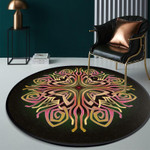 Gorgeous Retro Bright Neon Artistic Round Rug Home Decor