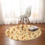 Burrito Texture Pattern Funny Round Rug Home Decor