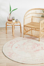 Avenue Collection Rose Round Rug Home Decor
